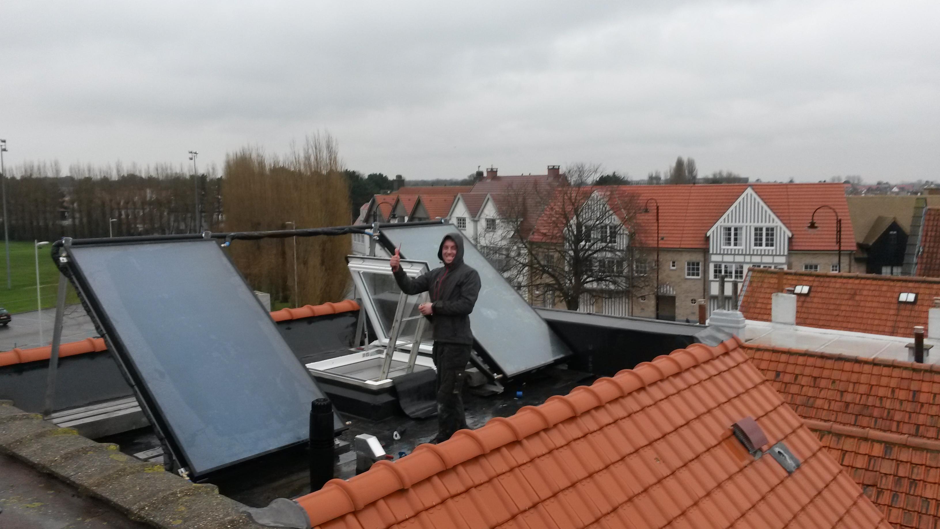 Plaatsing zonneboiler te Knokke-Heist